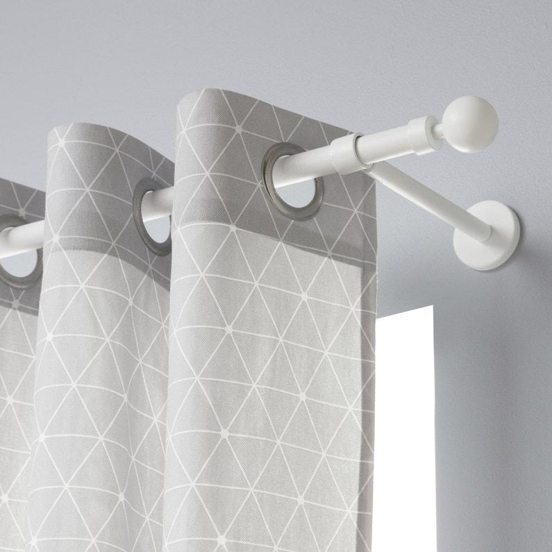 watch half off new concept Tringle à rideau Design blanc mat 250 cm INSPIRE