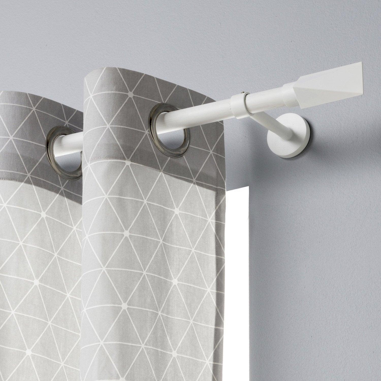 Tringle à rideau extensible Design blanc mat de 120 à 210 cm INSPIRE