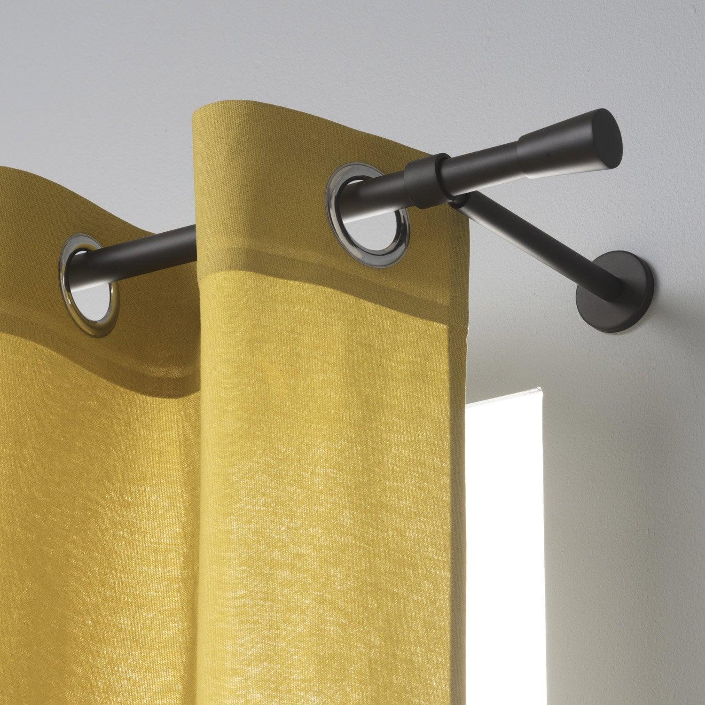 Tringle à rideau noir mat 300 cm INSPIRE