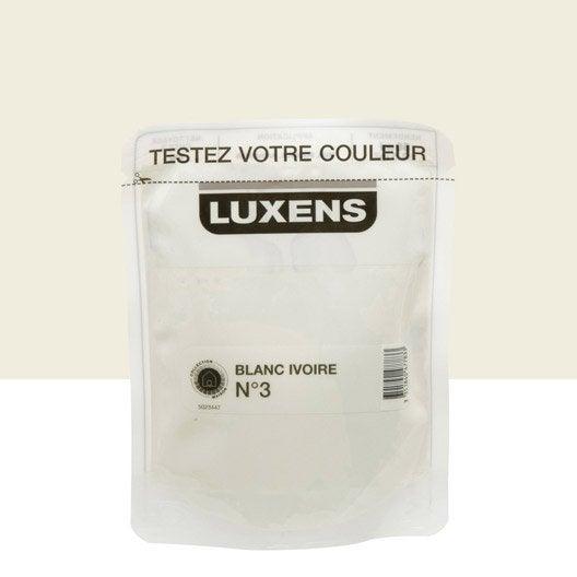 Testeur peinture blanc ivoire 3 luxens couleurs int rieures satin l le - Peinture blanc ivoire ...