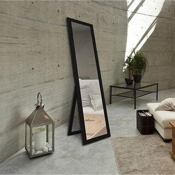 Miroir Soweto, noir, l.32 x H.150 cm