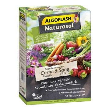 Engrais naturel sang desséché ALGOFLASH 1.2 kg 25 m²