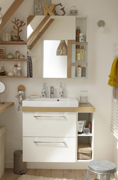 Un meuble vasque compact blanc