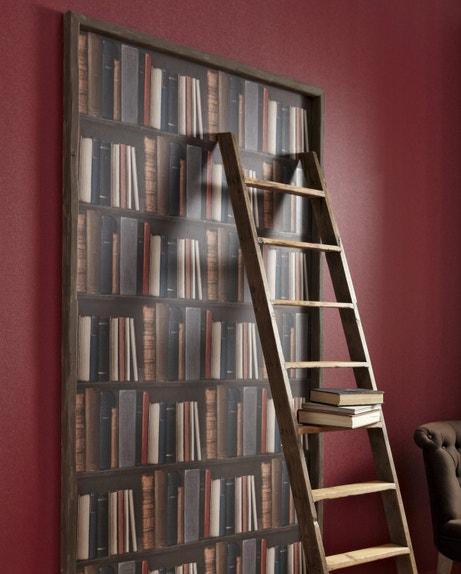 Un trompe l'oeil bibliothèque pour donner plus de volume à votre pièce