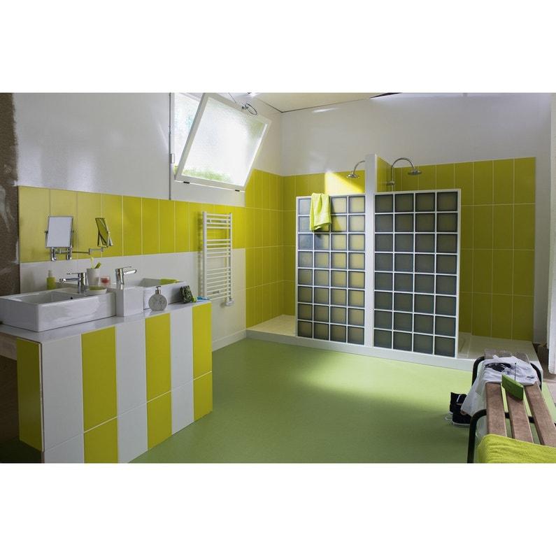 Faïence mur jaune anis n°3, Loft mat l.20 x L.50.2 cm | Leroy Merlin