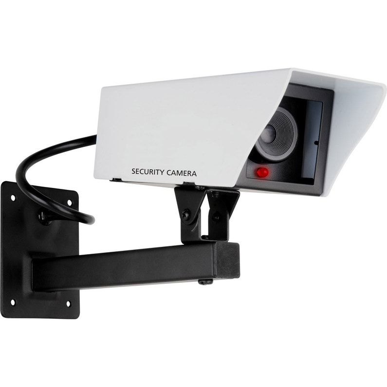 Camera Factice Metal Avec Led Clignotante Smartwares Cs11dfr Leroy Merlin