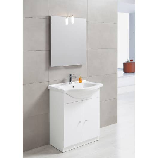 meuble vasque 65 cm blanc bianca leroy merlin. Black Bedroom Furniture Sets. Home Design Ideas