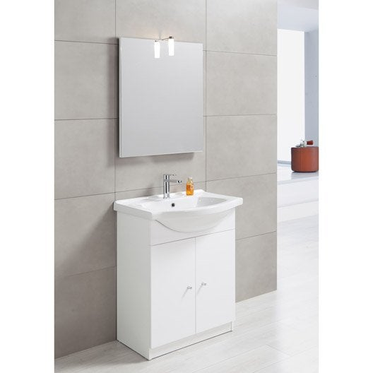 Meuble Vasque 65 Cm Blanc, Bianca | Leroy Merlin
