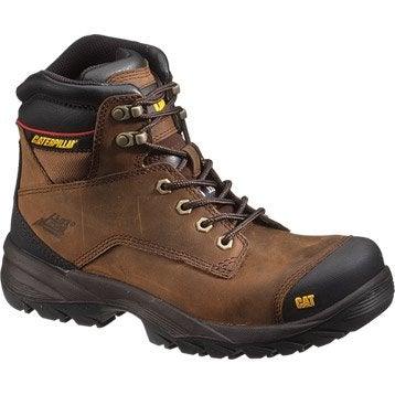 Chaussures chaussures de sécurité hautes CATERPILLAR Spiro btp s3,coloris marro