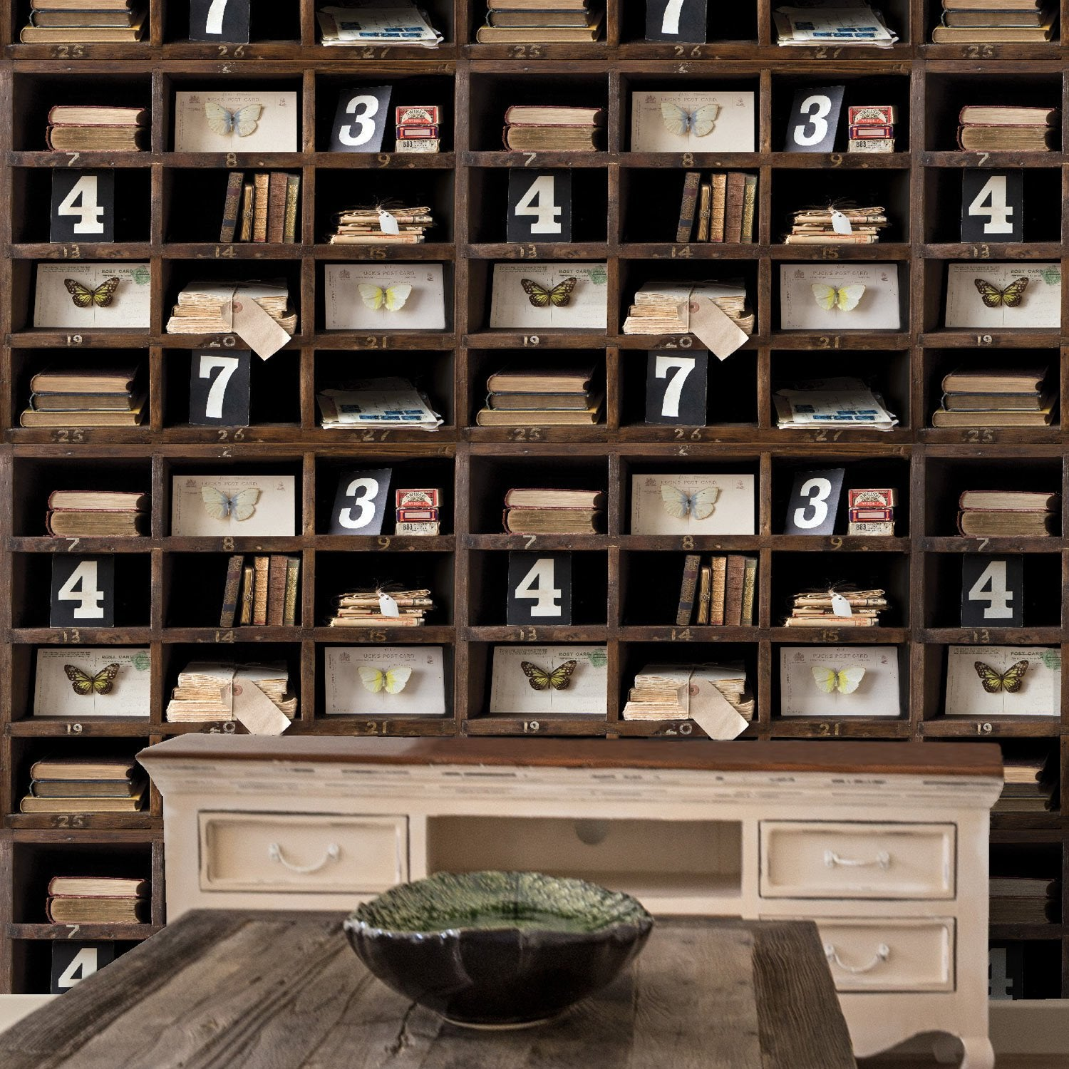 papier peint intiss biblio curieuse multicouleur leroy merlin. Black Bedroom Furniture Sets. Home Design Ideas