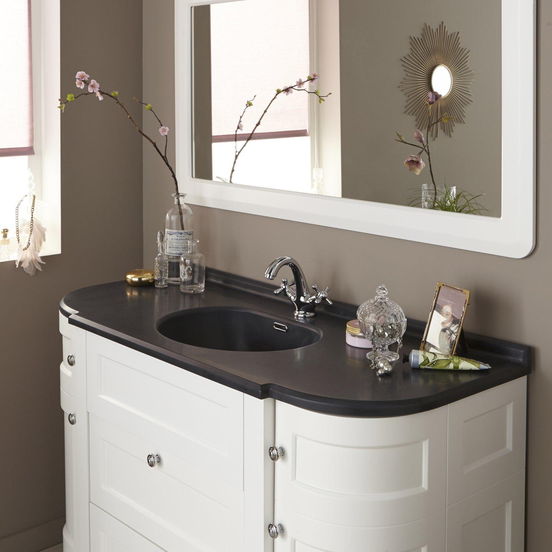 Un style romantique pour la salle de bains leroy merlin - Meuble salle de bain romantique ...