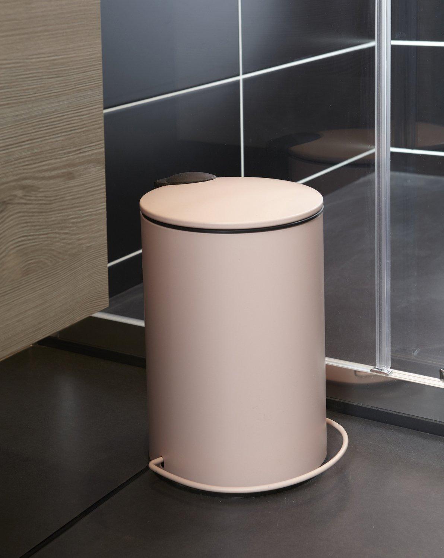 Salle De Bain Rose Poudre ~ une poubelle de salle de bains rose poudr e leroy merlin