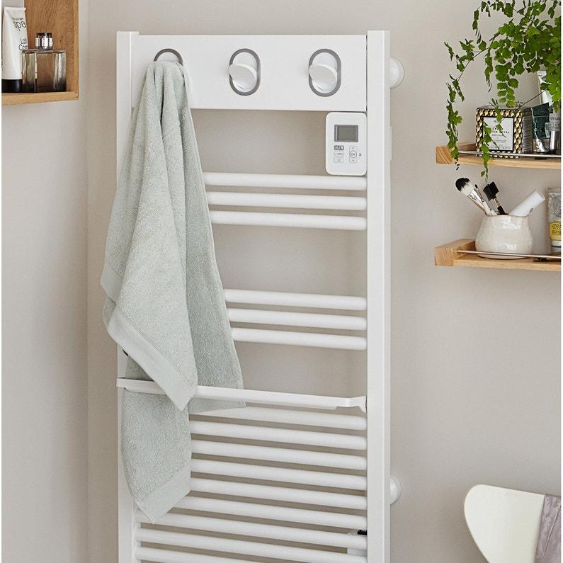 Sèche Serviettes électrique à Inertie Fluide Sauter Marapi Blanc 500w