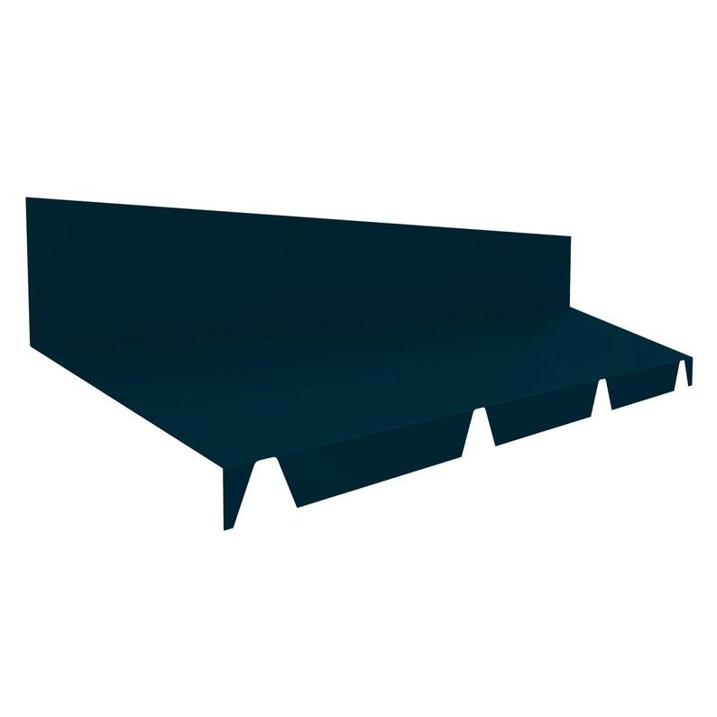 Faîtière Contre Mur Pour Plaque Nervurée Bleu L21 M
