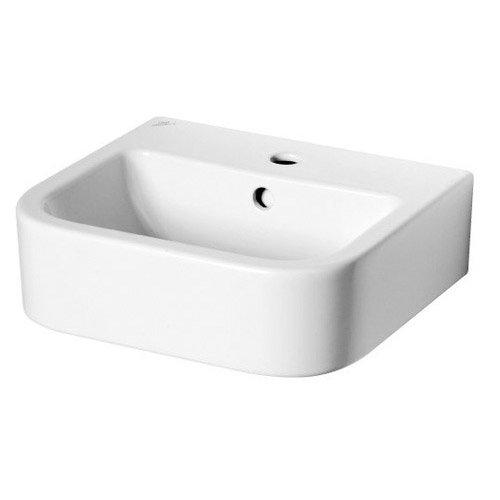 Lavabo en c ramique blanc ideal standard seventies for Largeur lavabo standard