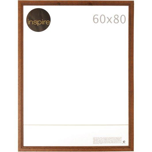 cadre saranca 60 x 80 cm marron leroy merlin. Black Bedroom Furniture Sets. Home Design Ideas