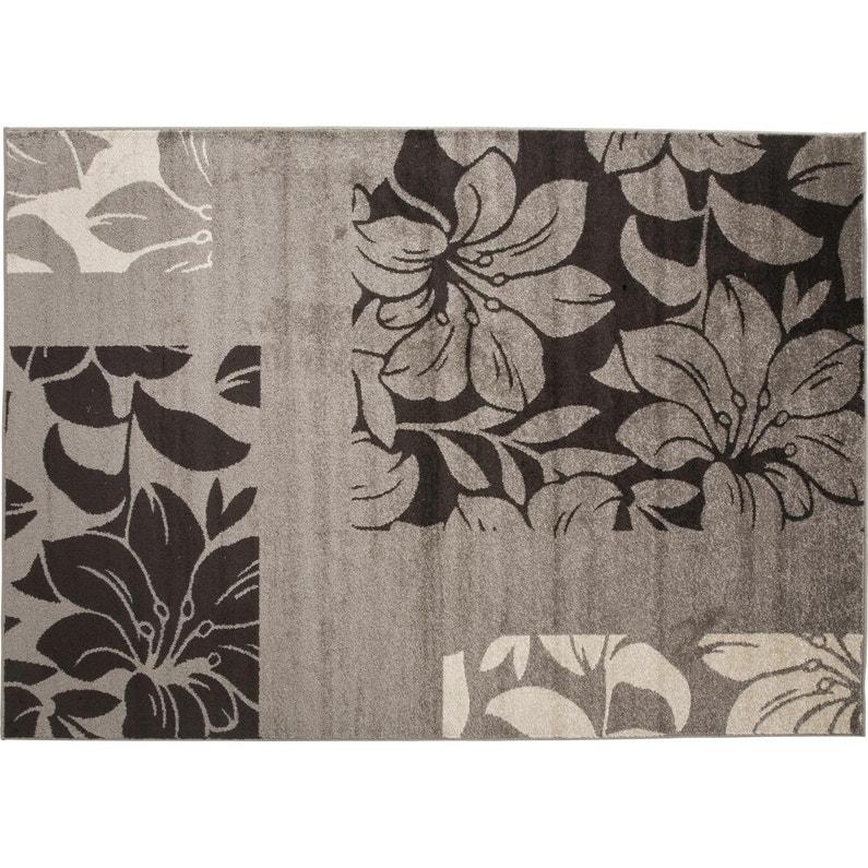 Tapis Gris Rectangulaire L160 X L220 Cm Online Floral