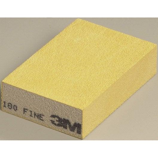 Eponge abrasive 3m 118 x 7 mm grains 180 leroy merlin for Cuisine 3m x 3m