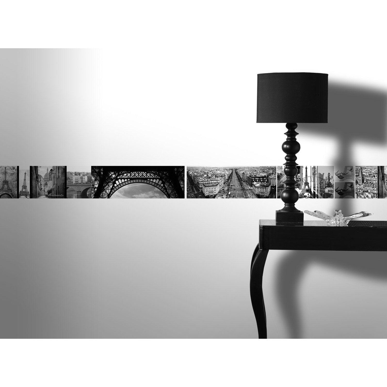 Frise vinyle adhésive Paris romantique L.5 m x l.15 cm   Leroy Merlin