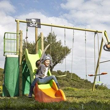 Aire de jeux métal Lima TRIGANO, H.250 cm