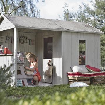 Maisonnette, cabane enfant en bois, cabane jardin au ...