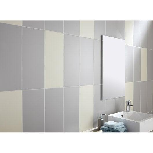 Fa ence mur gris galet n 5 loft x cm leroy - Couleur gris galet ...