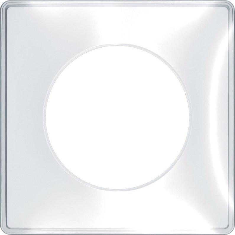 Plaque Simple Odace Schneider Electric Transparent