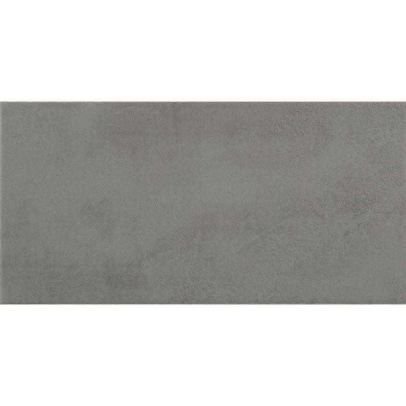 Faïence mur béton anthracite mat l.20 x L.40 cm, Kiosque