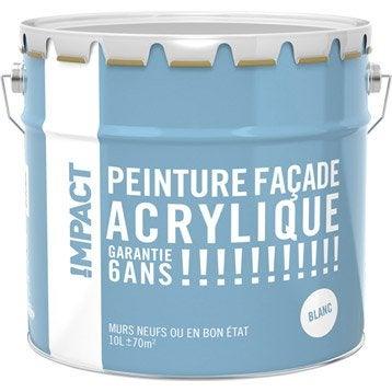 Peinture façade Acrylique IMPACT, blanc, 10 l