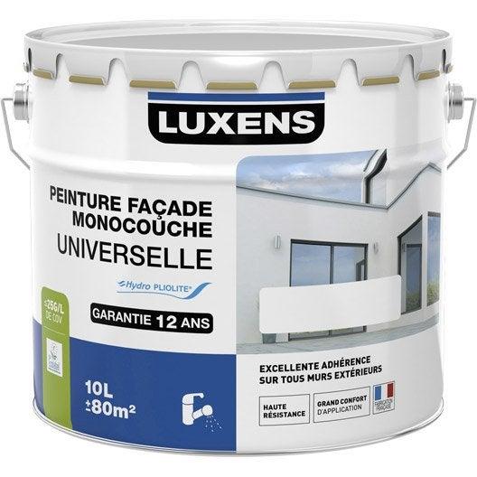 Peinture fa ade universelle luxens blanc 10 l leroy merlin - Leroy merlin peinture facade ...