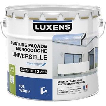 Peinture façade Universelle LUXENS, blanc, 10 l
