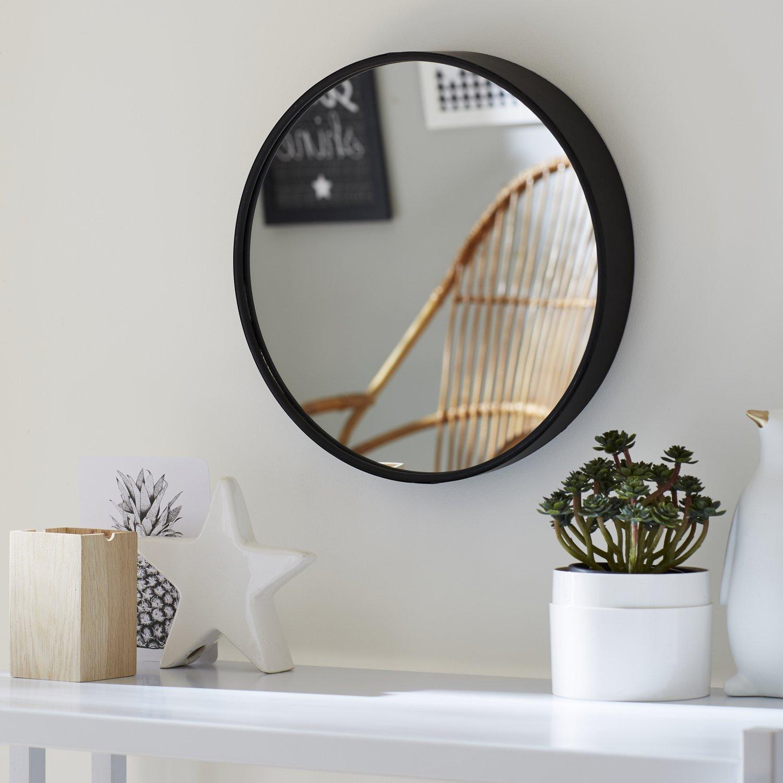 habiller le mur d 39 un miroir avec encadrement en metal noir leroy merlin. Black Bedroom Furniture Sets. Home Design Ideas