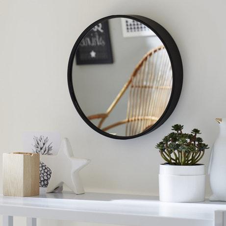 Habiller le mur d'un miroir avec encadrement en metal noir