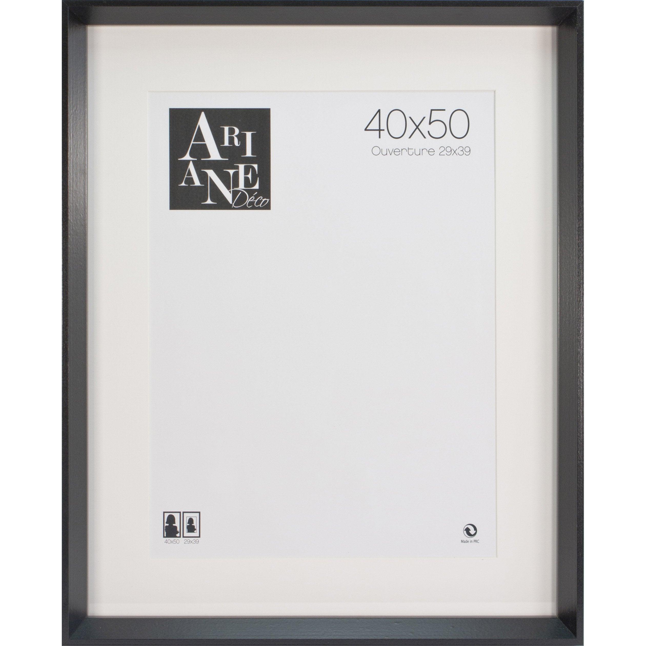 Cadre Milano, noir, 40 x 50 cm