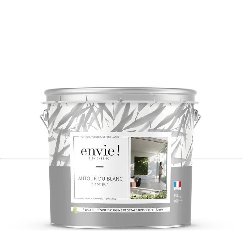 Peinture Envie Mur Plafond Et Boiserie Blanc Velours 10 L