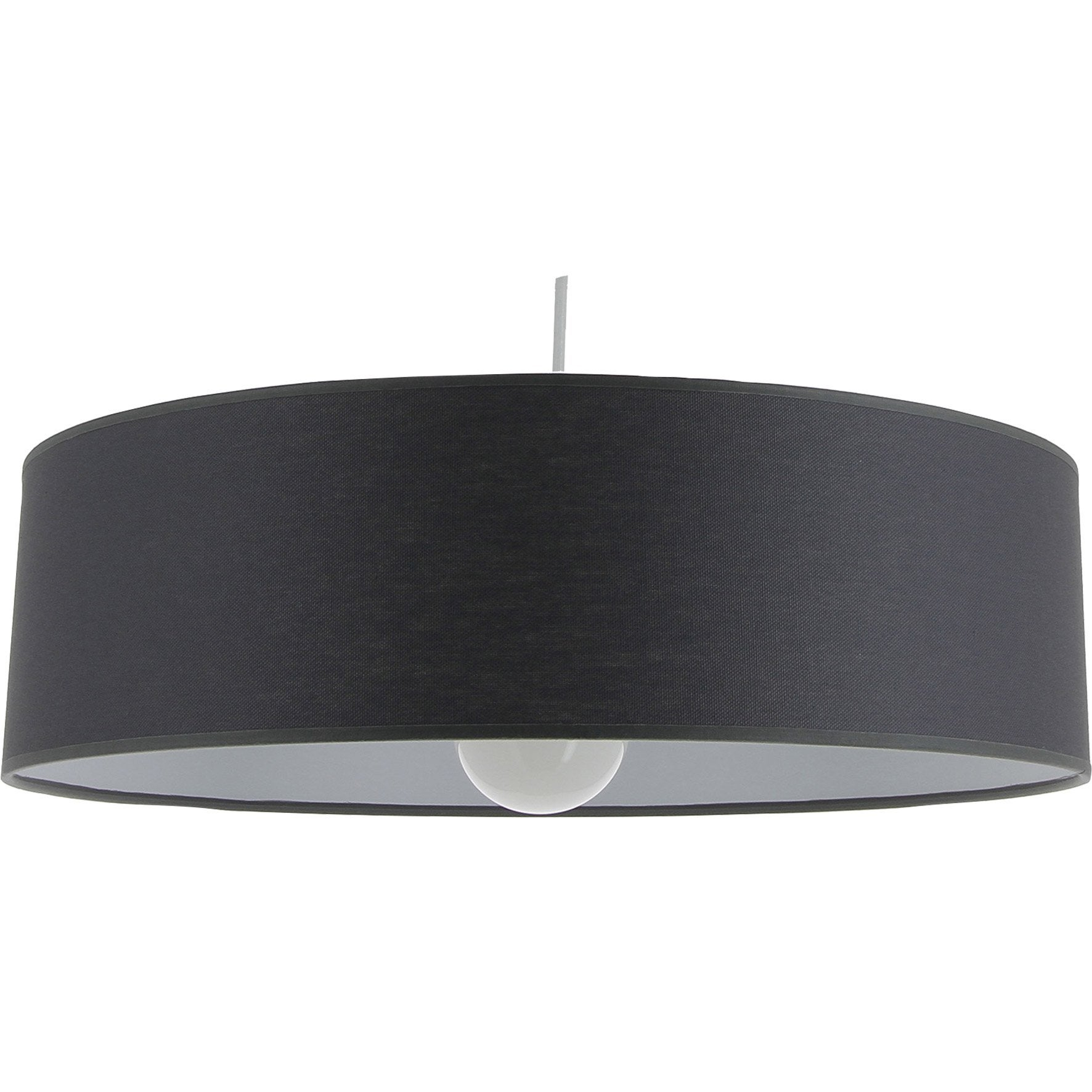 Suspension, e27 design Natt Slim coton gris galet 1 x 60 W METROPOLIGHT