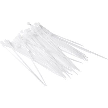 50 attaches transparentes pour canisse, 3.5 mm x 15 cm