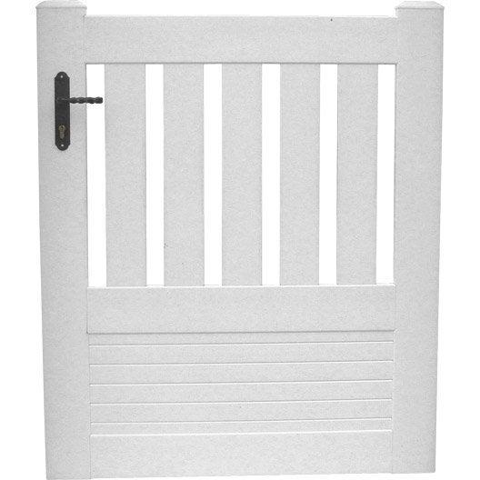 portillon battant naterial plescop x cm blanc. Black Bedroom Furniture Sets. Home Design Ideas