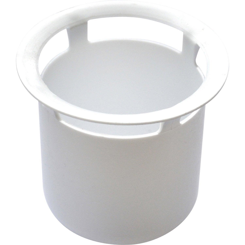 Tasse pour bonde gros d bit orientable leroy merlin for Syphon bac a douche