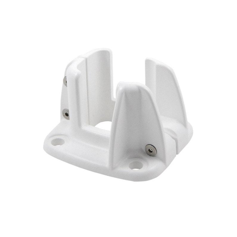 Platine fonte d\'aluminium en h Premium blanc, H.8 x l.12 x P.13 cm