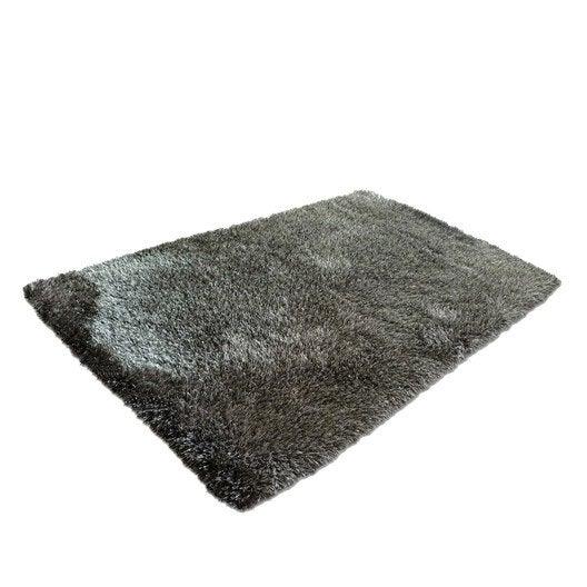 tapis taupe shaggy love x cm leroy merlin. Black Bedroom Furniture Sets. Home Design Ideas