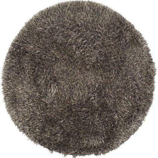 tapis taupe shaggy love mm leroy merlin. Black Bedroom Furniture Sets. Home Design Ideas