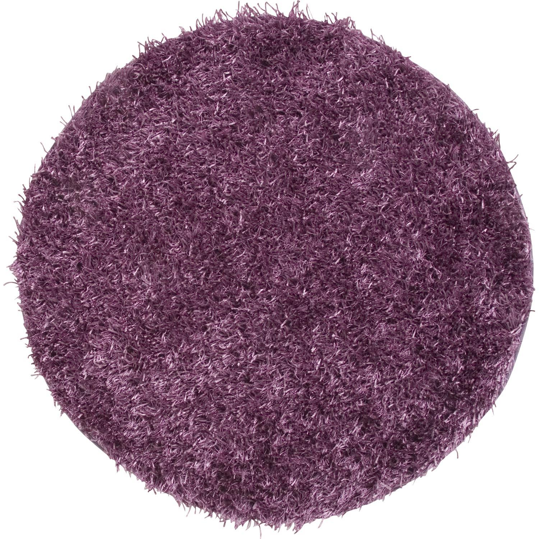 tapis violet shaggy lilou mm leroy merlin. Black Bedroom Furniture Sets. Home Design Ideas