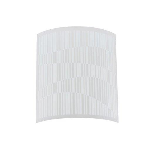 fa ade pour applique composer vao verre blanc 0 inspire leroy merlin. Black Bedroom Furniture Sets. Home Design Ideas