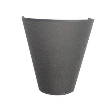 Applique, e27 Luna, 1 x 60 W, coton gris galet n°3, INSPIRE