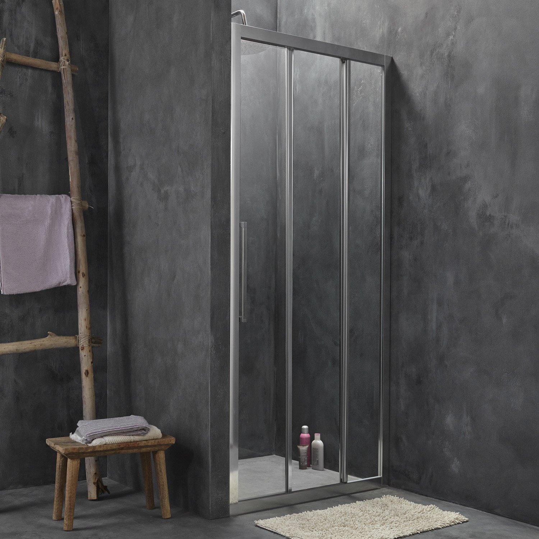 porte de douche coulissante 90 cm transparent purity3 leroy merlin. Black Bedroom Furniture Sets. Home Design Ideas