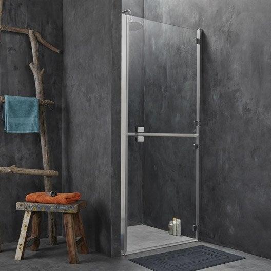 porte de douche pivotante 88 90 cm profil chrom double premium2 leroy merlin. Black Bedroom Furniture Sets. Home Design Ideas