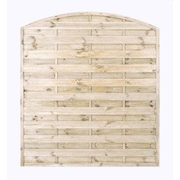 Panneau bois occultant Savanne, l.180 x H.200 cm, naturel