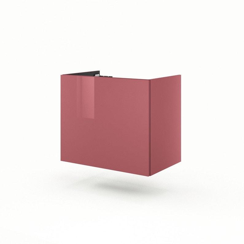 Meuble de salle de bains l.75 x H.64 x P.48 cm, rouge, Neo line