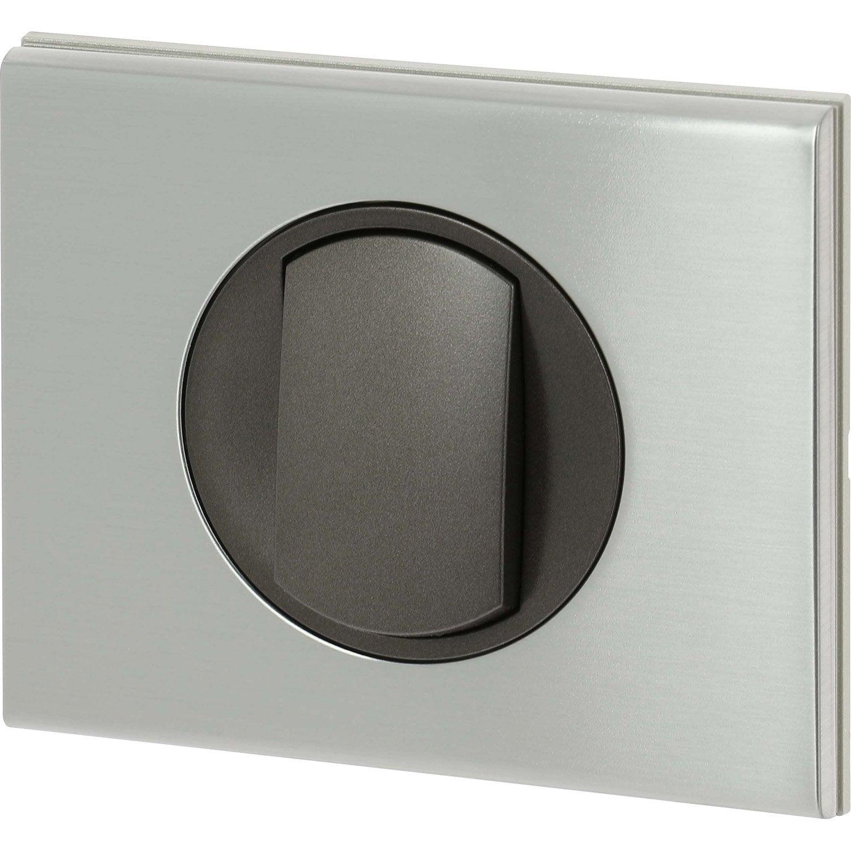 interrupteur va et vient c liane inox bross legrand leroy merlin. Black Bedroom Furniture Sets. Home Design Ideas